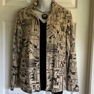 CHICO'S abstract animal print Spring jacket